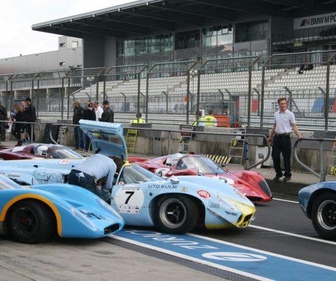 Vor dem 46. AvD-Oldtimer-Grand-Prix 2018 auf dem Nürburgring
