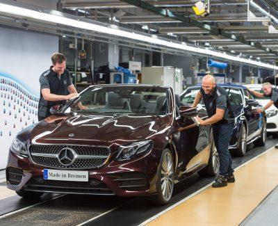 Das neue Cabrio der E-Klasse läuft in Bremen vom Band