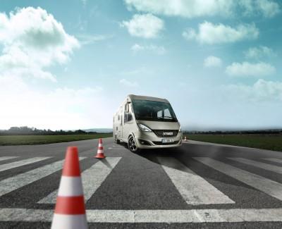 Fahre sicher mit Wohnmobilen und Wohnwagen – Hymer bietet Fahrsicherheitstraining an