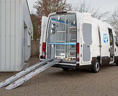 Sortimo sorgt für mehr Ladungssicherheit – Der neue Iveco Daily lässt sich mit ProSafe-Systemen ausrüsten
