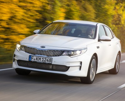 Den neuen Optima gibt es auch als Kombi – Ende des Jahres will Kia auch eine Plug-in-Hybrid-Version bringen
