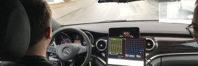 Autonome Testwagenflotte mit dem Stern auf deutschen Asphaltstraßen