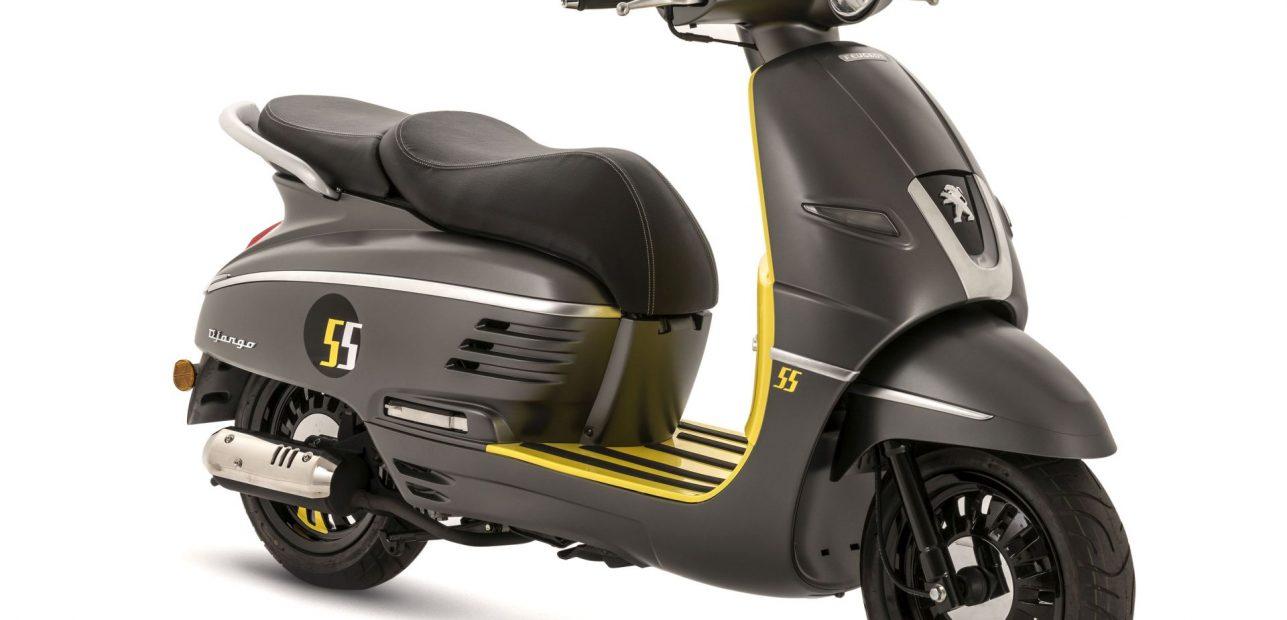 """Ein Django 50 als Sondermodell """"Summer"""" von Peugeot Motocycles"""